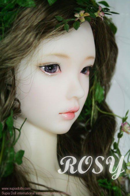 1/3th scale 60cm BJD doll nude with Make up,SD doll girl rosy lina .not included Apparel and wig 1 4 bjd dollfie girl doll parts single head include make up shang nai in stock
