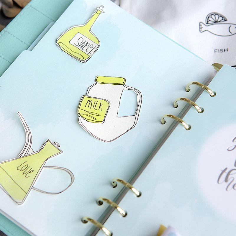 2019 Ny Dokibook Notebook Planner Tillbehör Snowflake Series - Block och anteckningsböcker - Foto 3