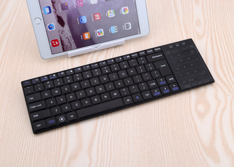 super thin slim mini wireless bluetooth keyboard with touchpad for windows mac laptop pc android. Black Bedroom Furniture Sets. Home Design Ideas