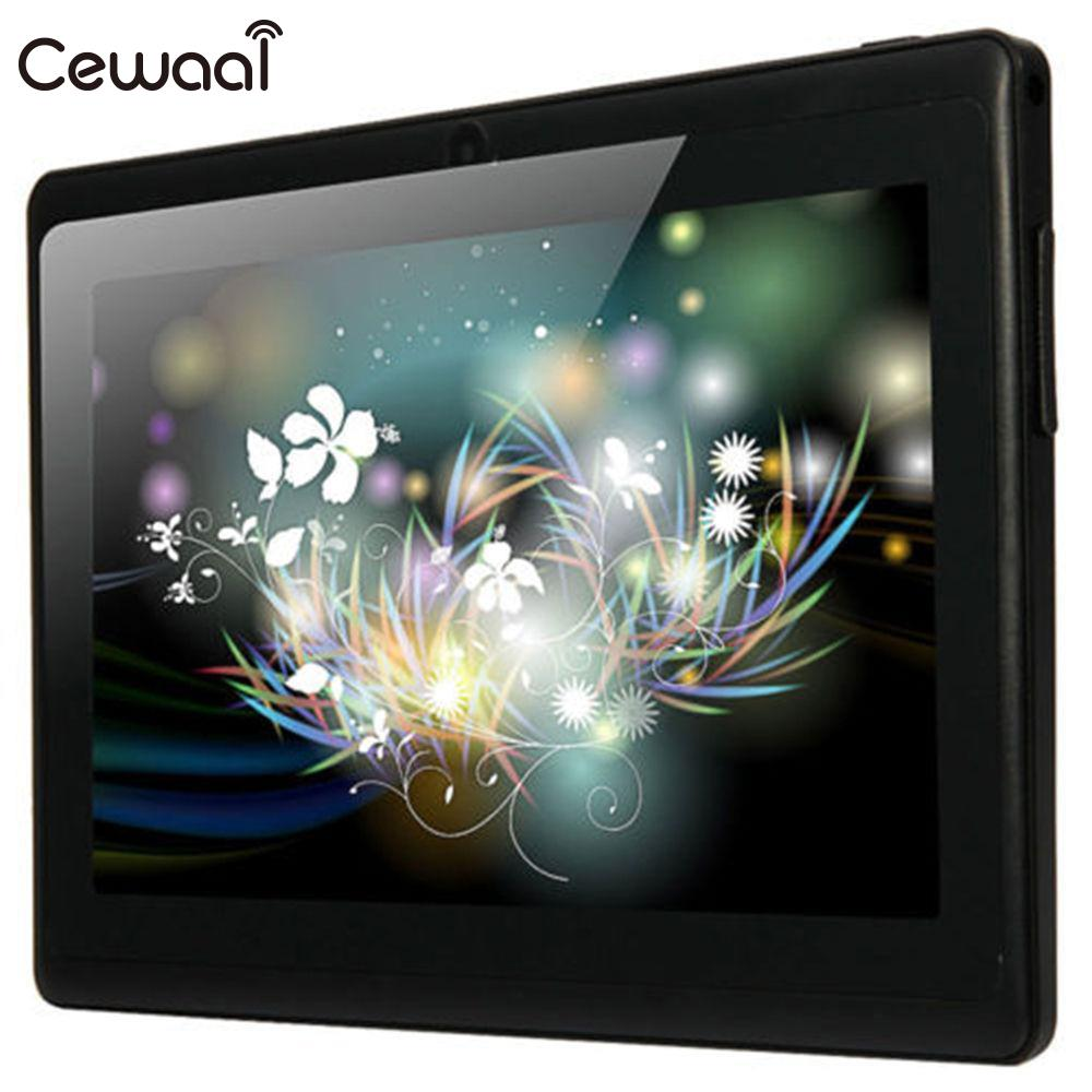 CEWAAL 7inch IPS Screen A33 Tablet HD Allwinner Android 4.4 OTG Quad Core WiFi Dual Camera RAM 512M ROM 8GB Tablet yuntab 7 inch q88 allwinner a33 quad core 512mb 8gb android 4 4 kids tablet pc hd screen dual camera