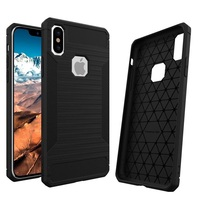 Rugged Soft Rubber Case For Iphone X 8 7 6 6S Plus Carbon Fiber Wire Drawing