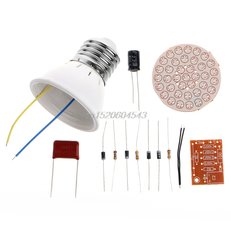 Energy-Saving 38 LEDs Lamps DIY Kits Electronic Suite S02 Dropship