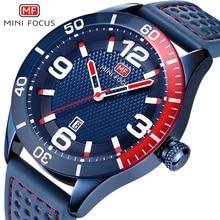 MINIFOCUS Fashion Men Watches Leather Strap Men's Wristwatch Quartz Sport Watch Mens Waterproof Luxury Brand Relogio Masculino цена