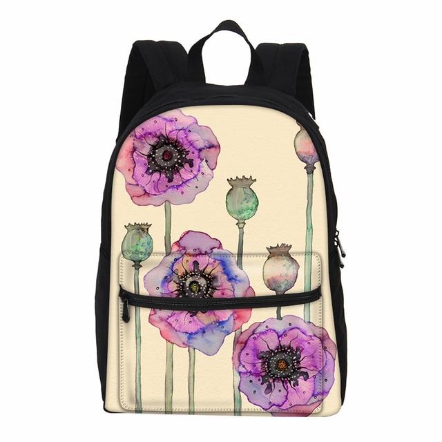 60653f09a6 VEEVANV Canvas Backpack Watercolour Children Bookbag New Cartoon Printing  Female Mochila Teenagers Shoulder Bag School Backpacks