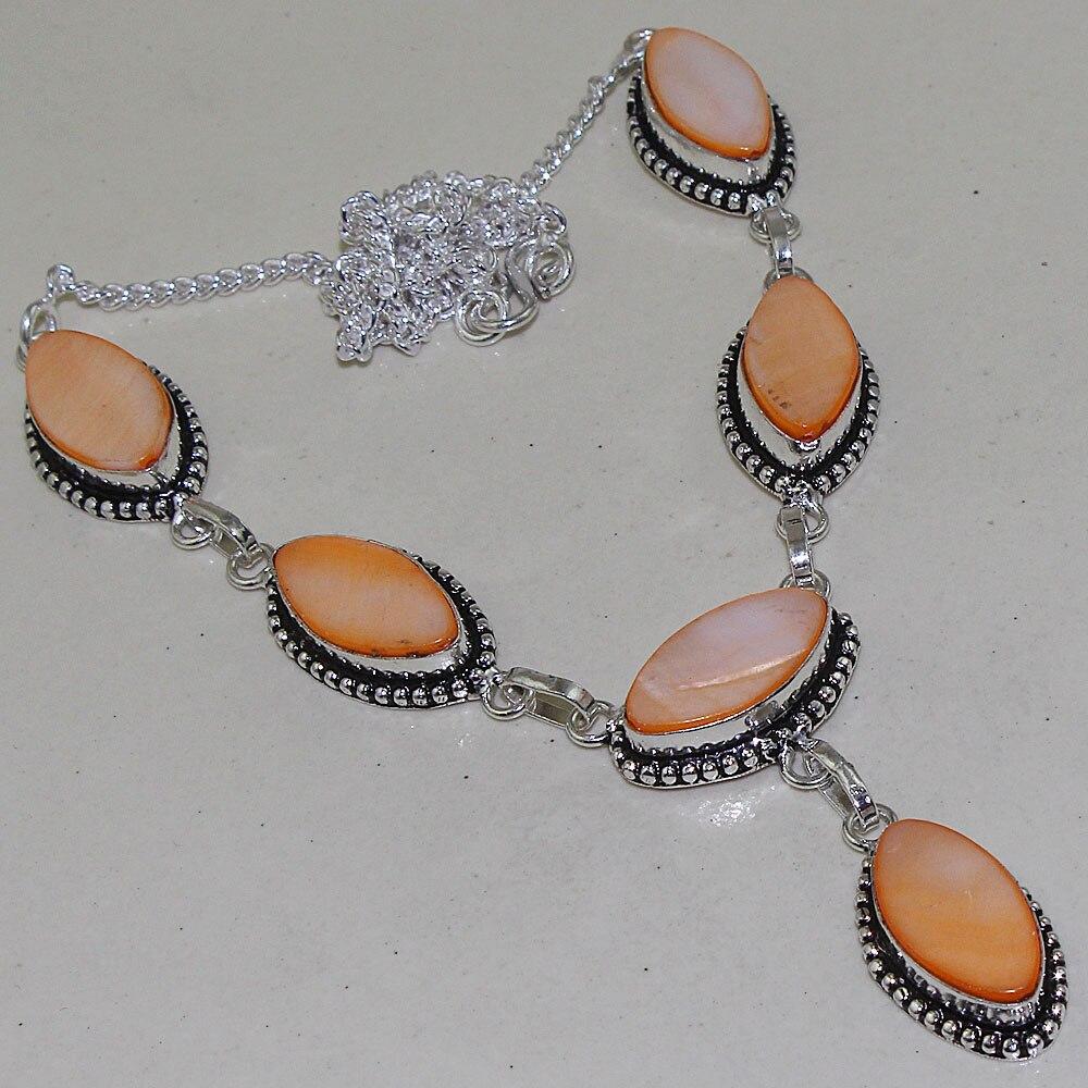 Biwa pérolas colar de prata sobreposição sobre cobre, 51.5cm, n1360