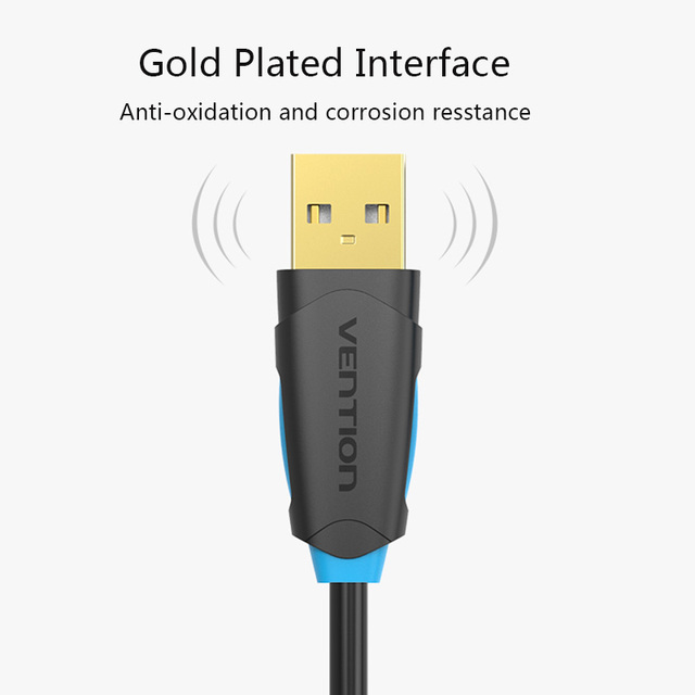 Vention USB2.0 Extension Cable USB 2.0 Cable Male To Female USB Data Sync USB Charger Extender Cable For PC Laptop U Disk Mouse