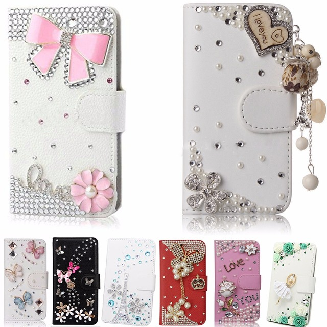 best website e0eec e2736 US $7.92 |Unique&Beautiful Phone Case For Moto M,Fashion Crystal Diamond PU  Leather 3D Handmade Phone Cover-in Rhinestone Cases from Cellphones & ...
