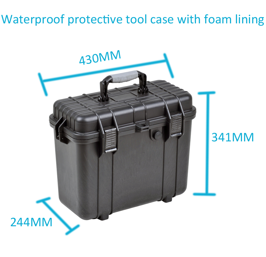 Tool case toolbox suitcase Impact resistant sealed waterproof plastic case equipment box camera case Meter box with pre-cut foam цена и фото
