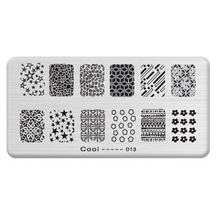 6*12cm Nail stamper Stainless Steel Template Stencils Nail Art Polish Stamping Plates JH114-Cooi013