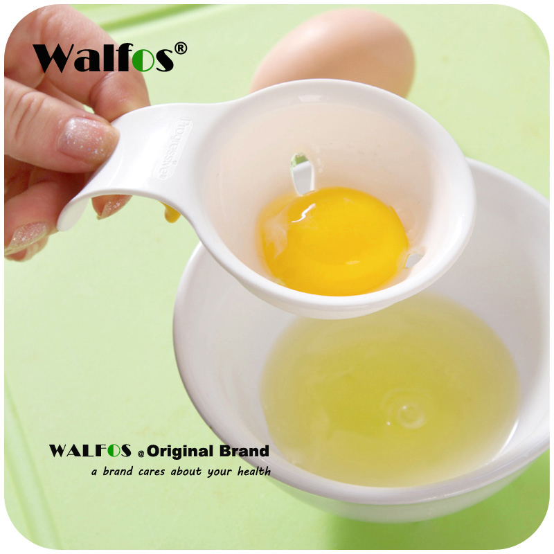 WALFOS Mini Food Grade <font><b>Egg</b></font> Yolk White Separator With <font><b>Silicone</b></font> <font><b>Holder</b></font> image