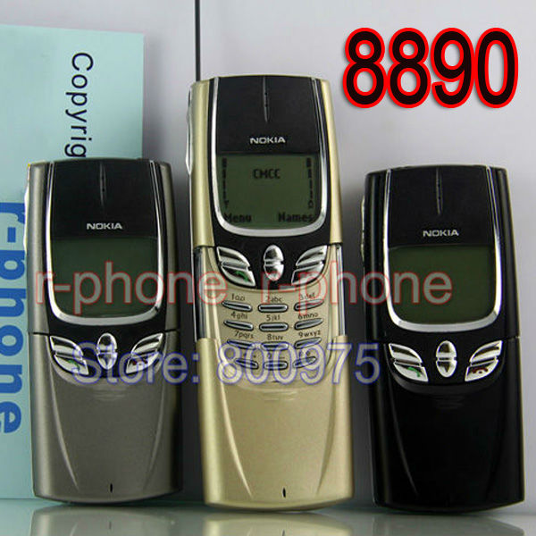 Fast Shipping Original Refurbished NOKIA 8890 Mobile Phone Unlocked GSM 900/1900 Silver + Gift feature phone
