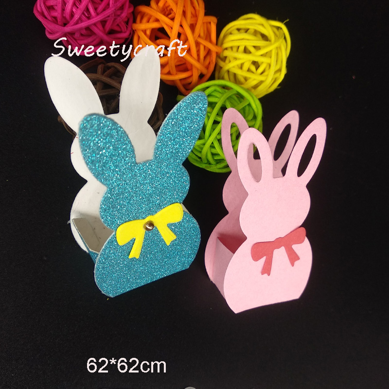 Electronic Components & Supplies Two Love Bunny Metal Cutting Dies Stencils For Diy Scrapbooking Album Photo Paper Cards Making Craft Embossing Decorative 2019