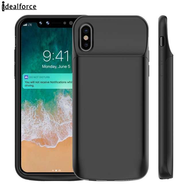 For iPhone X Battery Case 3600mAh/6000mAh Rechargeable Portable External Charger Pack Power Bank Backup Cases Cover Shell