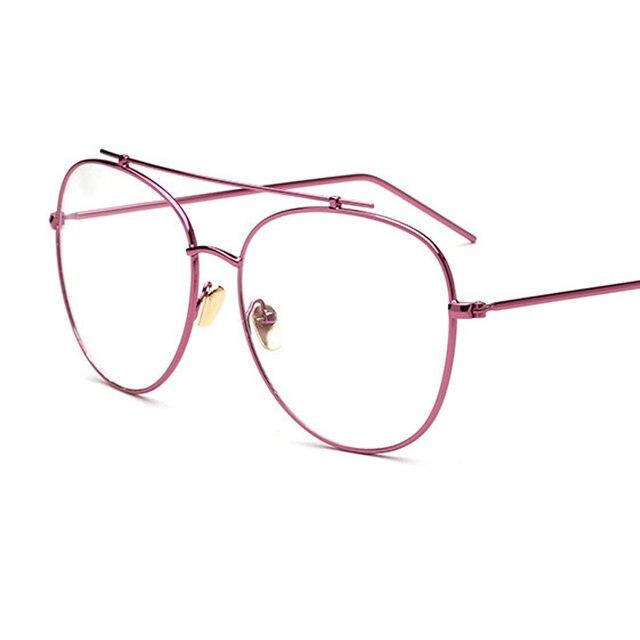 Oval Metal Big Frame Eyeglasses Frames Men Women Student Optical ...