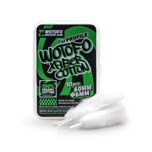 Image 5 - 10pcs/20pcs/30pcs Original Wotofo Xfiber Cotton For Profile Cotton dry burning vaping mesh coil Cotton For Profile RDA Vape Tank