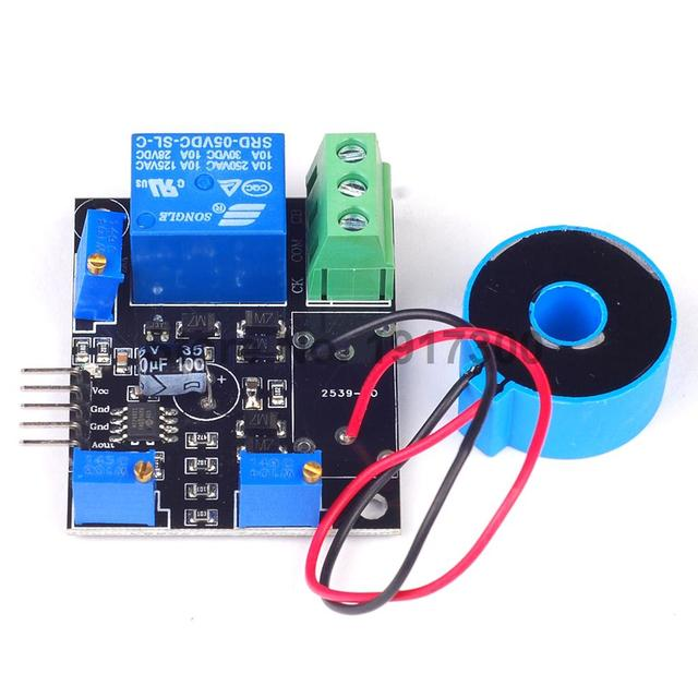 1PCS Current Detection Sensor Module 50A AC Short-Circuit Protection DC5V Relay
