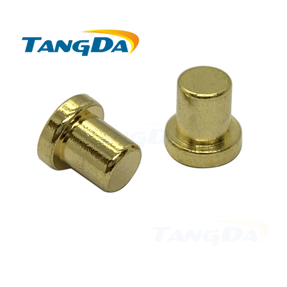 4 4.1 Pogo Pin Connectors 4*4.1mm High Current Copper Pillar CNC Lathe Parts Probe Conductive Test Pin No Springs Female 20A AG