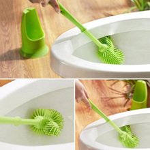 New Style Fashion Creative Cylinder Plastic Handle Toilet Brush &Base Bathroom Cleaning Tool Kit