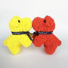 Новинка, пенные розы, собака, роза, медведь, подарки на день Святого Валентина, вечерние, подарок, пенные цветы, украшение для дома