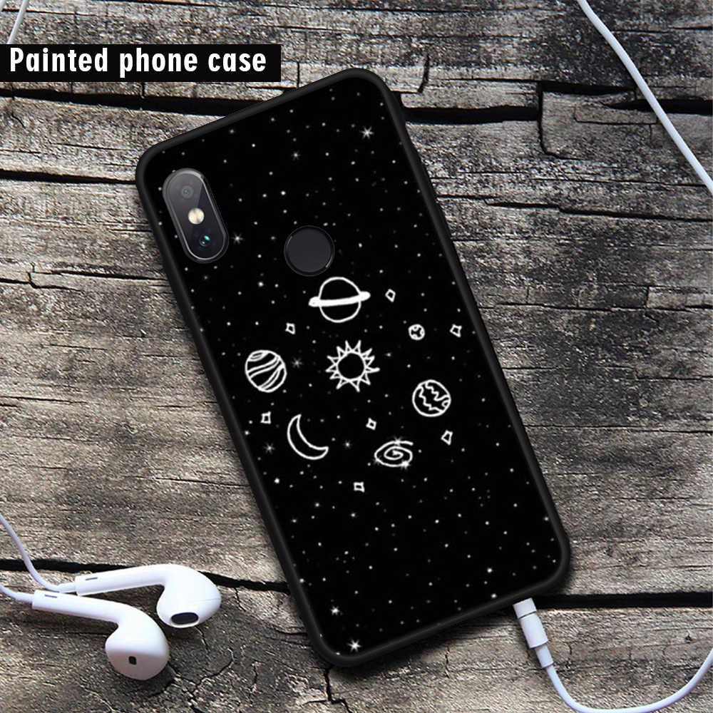 GerTong Padrão TPU Caso de Telefone Para Xiao mi vermelho Mi 5 plus nota 5 Pro 5A Prime 4X 4A NOTA mi 4 A1 MI 5X preto FOSCO Casos Flor