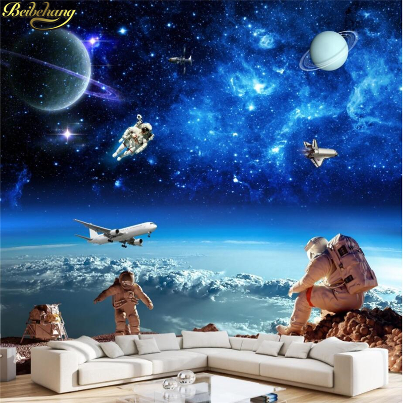 Beibehang papel de parede 3d cosmic starry galaxy photo wallpaper for walls 3d bedroom kid room - Papel pared 3d ...
