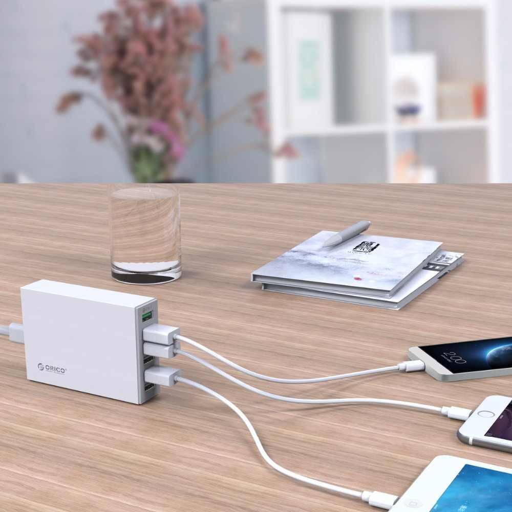 Orico QSL-6U 6 Port QC2.0 Cepat USB Charger Ponsel Charger untuk Samsung Huawei LG Iphone Adapter EU/US /Uk/AU Plug