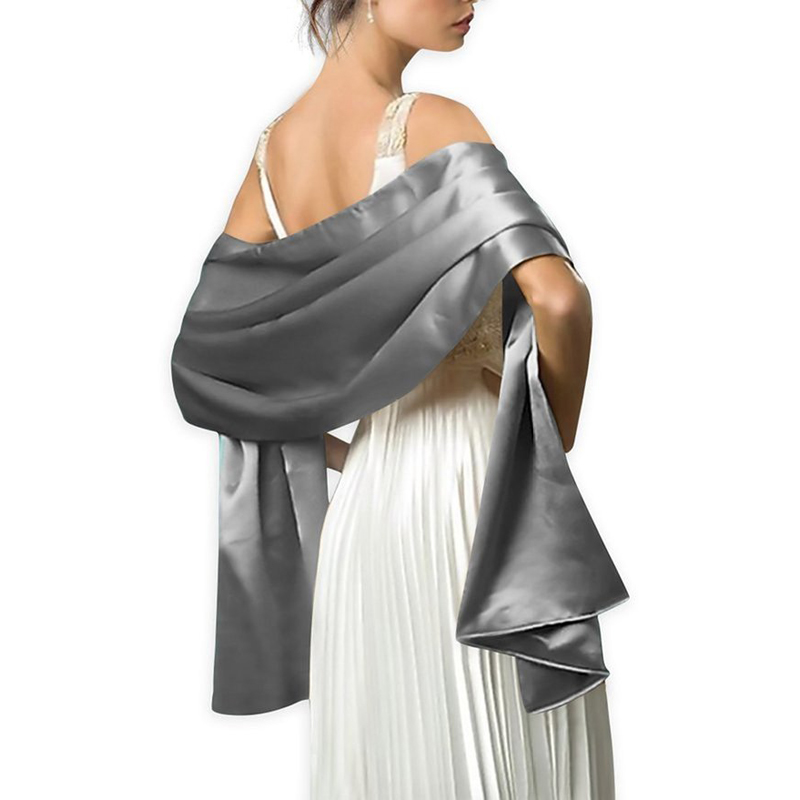 Elegant Women Satin Wrap Shawl Evening Party Bridal Wedding 2 Size Available Free Shipping Oem Order Accepted In Scarves From S