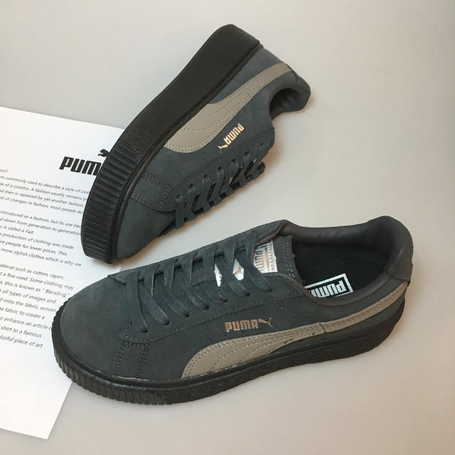 Original PUMA x FENTY Suede Cleated Creeper Women s Second Generation  Rihanna Classic Basket Suede Tone Simple Badmin Size 36-39 4886be6ec
