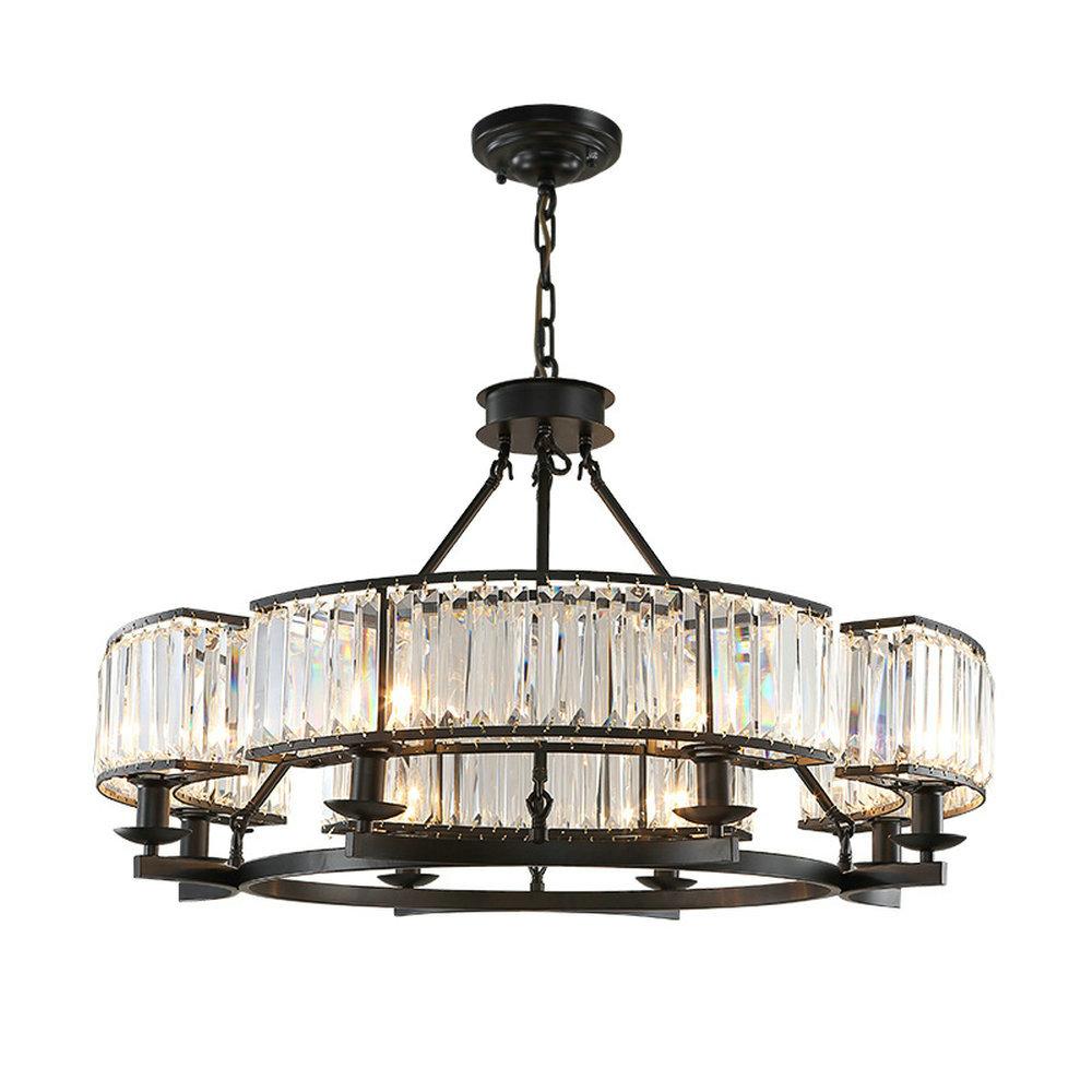 Vintage Loft Stil Kristall Leuchte Bronze Schwarz Kronleuchter Lampen Lampenschirm Fr Wohnzimmer E14 Led