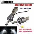 2x 12V Car LED Headlight 110W 13200Lm LED Fog Driving Light H4 H7 H8 H9 H11 9004 9005 HB3 9006 HB4 9007 H13 Auto Bulb Lamp 6000K