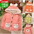 Детская одежда зима ребенок зимой девочка хлопка-ватник ватные куртки новорожденных девочек верхняя одежда 0 - 1 - 2 лет