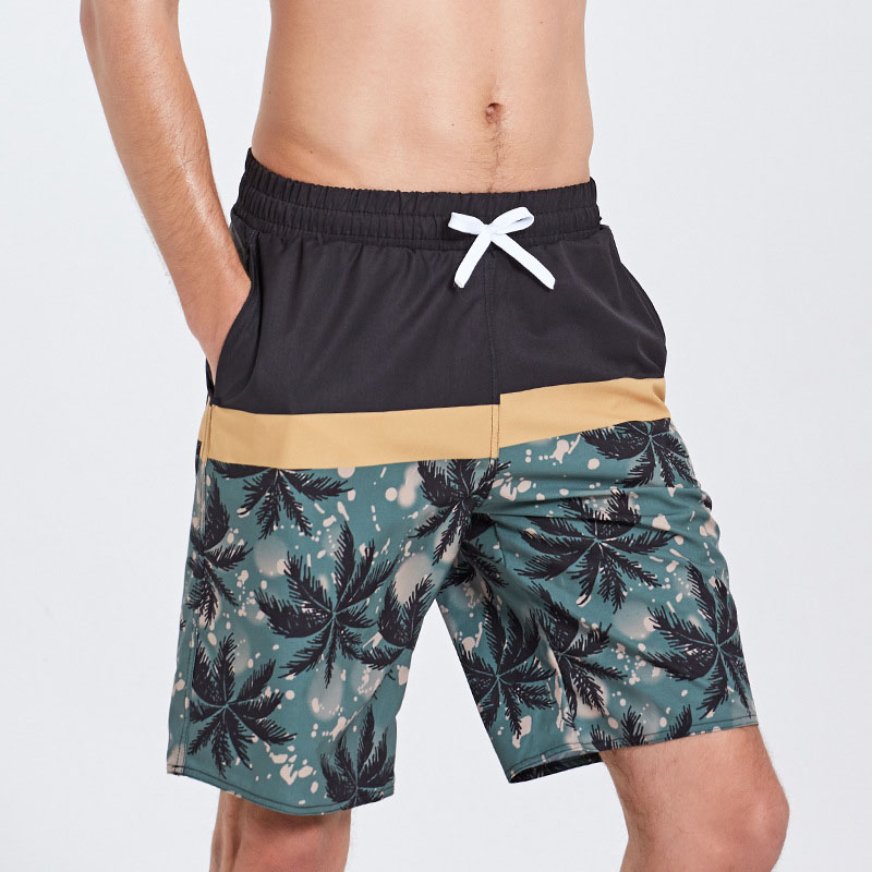 Men Beach Shorts Swimming Trunks Geometric Patterns Board Shorts
