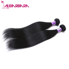 Peruvian Virgin Hair Straight 2pcs 8A Unprocessed Virgin Peruvian Straight Hair Cheap Peruvian Hair bundles #1b
