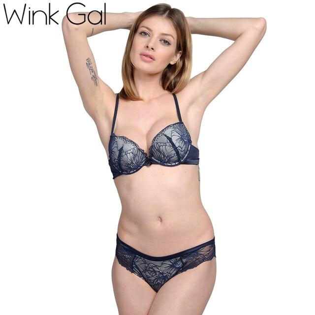 Wink gal moda push-up bra sexy sujetador panty de la ropa interior de las aeeb36c8b7a3