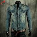 Large Size M-XXL Denim Jackets Stand Collar 2016 Spring And Autumn New Men's Retro Slim Denim Jacket autumn Jeans Coat Jaquetas