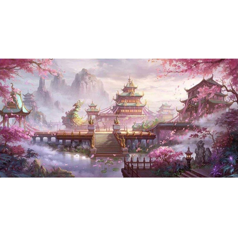 Large size picture Beautiful palace diamond Embroidery diy painting mosaic 3d cross stitch H676