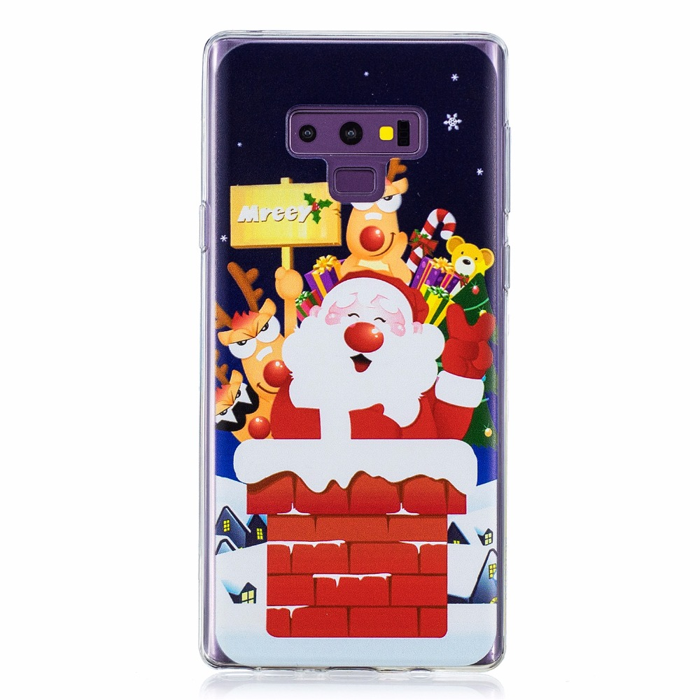 100Pcs/Lot 5Colours Christmas New Style TPU Cover Case For Samsung Galaxy S8 S8 Plus S9 S9 Plus Note 9