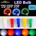 T5 LED 10 UNIDS en Un Lote SMD Bombilla Cerámica Dashboard Instrumento Medidor de Luz Automático Lámpara Del Coche DC12V
