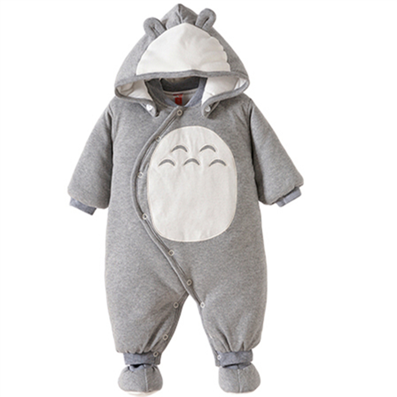 Baby Boy Clothes Newbon Quality 100% Cotton Hooded Rompers Cartoon Totoro Thick Warm Infant Jumpsuit Winter Baby Clothes Outfits 6003 aosta betty baby rompers top quality cotton thickening clothes cute cartoon tiger onesie for baby lovely hooded baby winter