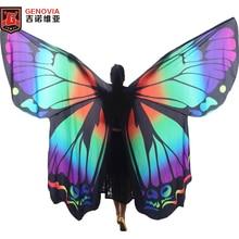 New 2017 Butterfly Belly Dance Costume 360 Isis Wings Egyptian Dance Wear Women Cape Cloak Dance Fairy Wing Wings and sticks butterfly wing cape pashmina