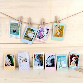 20 sztuk 9*6cm papierowe ramka na zdjęcia do Instax Mini Film DIY albumy ze zdjęciami księga gości dekoracyjne do ozdoby domu tanie i dobre opinie 9cm x 6cm Paper Photos Frame Zdjęcia naklejki albumu Wiskoza albumu fotograficznego 80 Przyklejony rodzaj