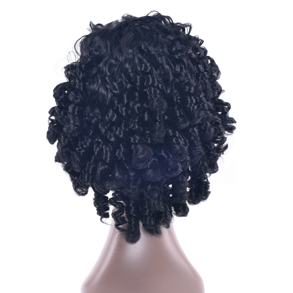Soowee 5 цветов Синтетические волосы черный Косплэй Искусственные парики афро вьющиеся партия Женские аксессуары для волос короткий парик для...