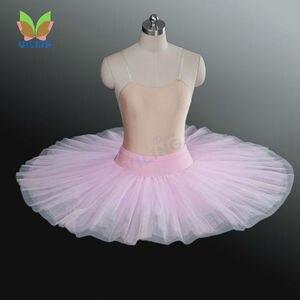 Image 4 - Baletowa spódniczka tutu profesjonalna próba tutu półmisek baletowa spódniczka tutu s ćwicząca pół baletowa spódniczka tutu naleśnik pół tutus dla dziewczynek
