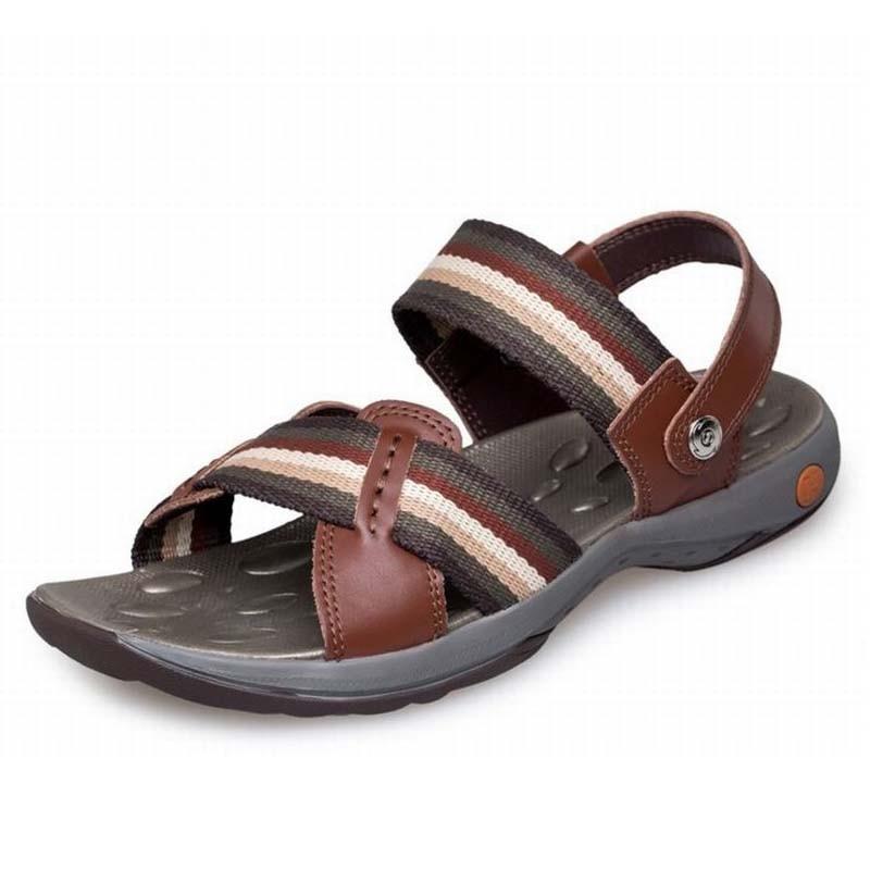 Top qualité véritable cuir de vache sandales homme mode été chaussures plage tongs homme gladiateur Sandalias pantoufles grand Size38-44