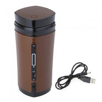 New Rechargeable USB Electric Heating Automatic Stirring Insulated Coffee Milk Tea Travel Mug Thermos Cup Lid