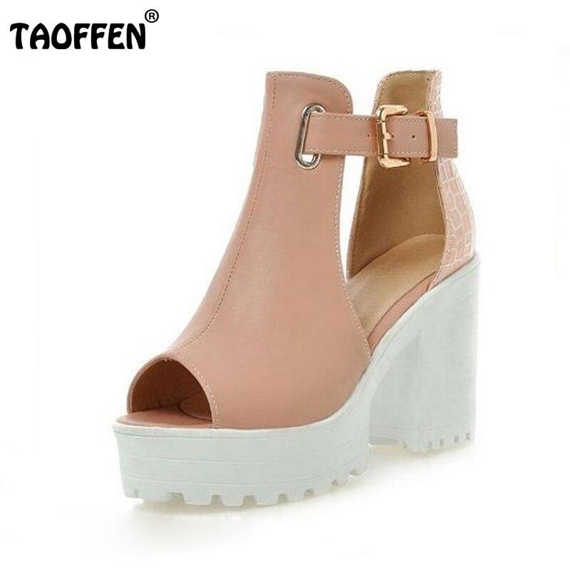 size 34-43 Women Gladiator Sandals Vintage Design Ankle Straps Open Toe Summer Shoes Thick High Heels Platform Sandals PA00891