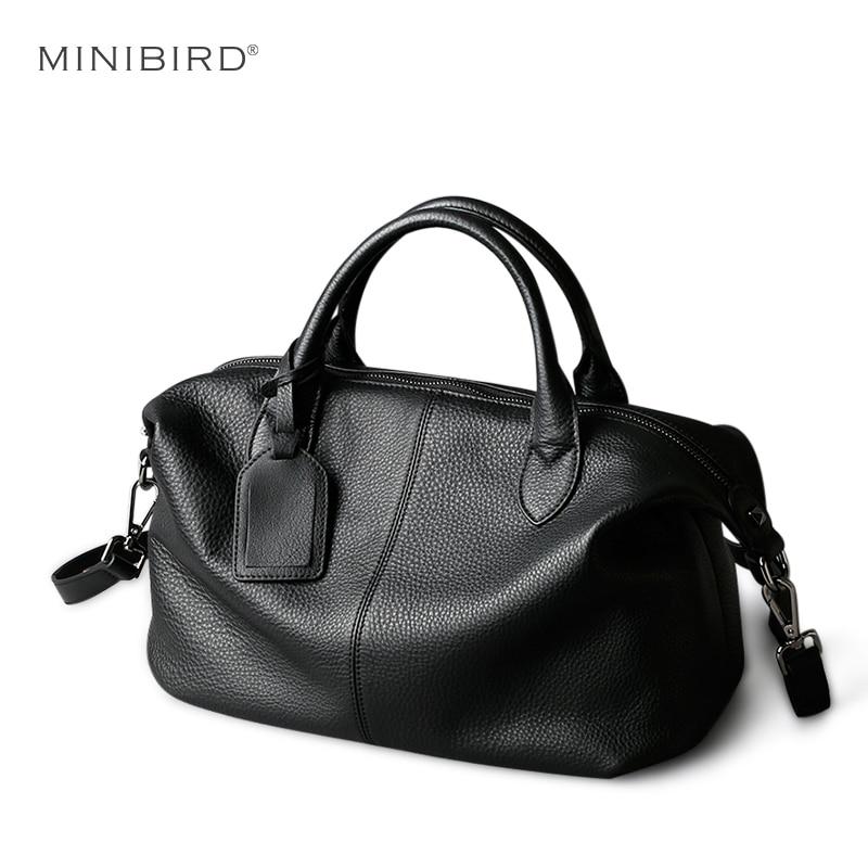 Genuine Leather Bag Women Crossbody Bag Lady Fashion Soft Cowhide Leather Hobos Toes Shoulder Bag Female