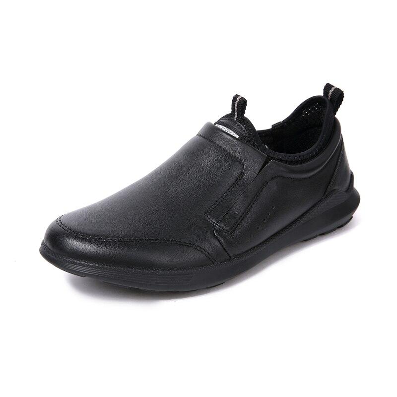Sneakers En Confortable De Bonne Homme Pour Plat Plein Les Adulte Sport Chaussures Glissement 2019 Air Cuir Black Unique Qualité Sur Hommes zwpxqx75