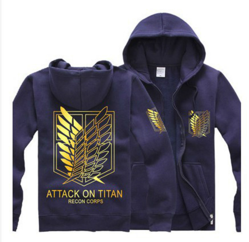 Classical Anime Attack on Titan Cosplay Costume Survey Legion Hoodies Sweatshirt Shingeki no Kyojin Hooded  Jacket Costume