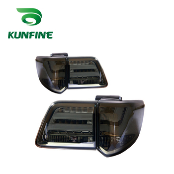 KUNFINE Pair Of Car Tail Light Assembly For TOYOTA FORTUNER 2012 2013 2014 2015 2016 LED Brake Light With Turning Signal Light